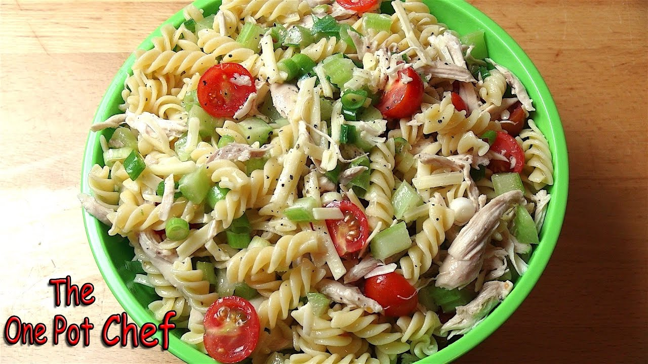 Light & Tangy Pasta Salad | One Pot Chef - YouTube