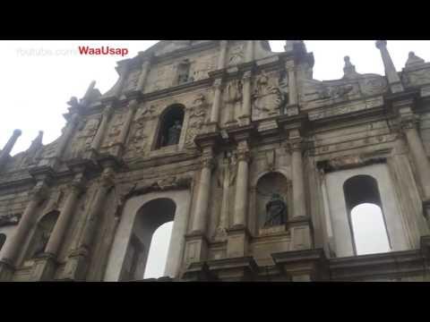 Macau Chinese Temple Ruins of St. Paul's Macau Chinese Street Foods and Snacks