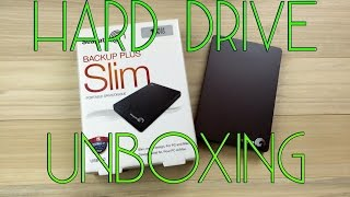 Seagate Backup Plus Slim 1 Terabyte Portable External Hard Drive Unboxing