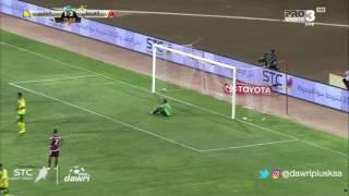 هدف الخليج الاول ضد الفيصلي (ألكسندر لوبيز) في الجولة 1 من دوري جميل