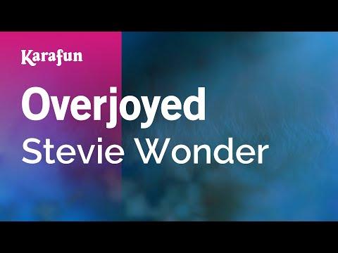 Karaoke Overjoyed - Stevie Wonder *