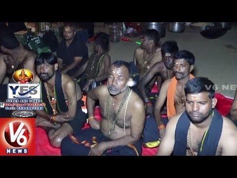 Ayyappa Swamula Maha Padayatra Reaches Sunkulamma Temple | Secunderabad To Sabarimala | V6 News