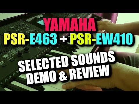 Yamaha PSR-E463 - Voices Demo & Review [PSR EW410]