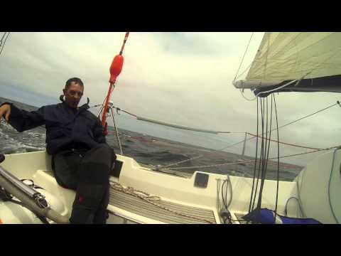 First 31.7 spi and pilot sailing
