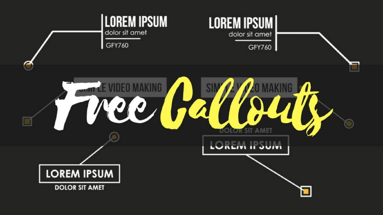 13 Free Callouts and Motion Tracking - Simple Video Making