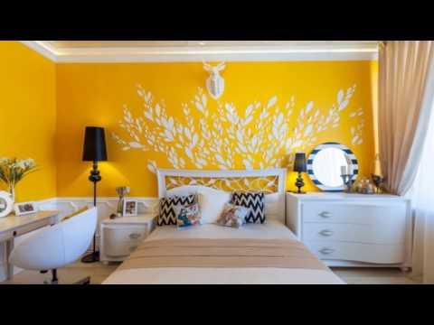 Дизайн спальни цвета Сиреневый и Белый