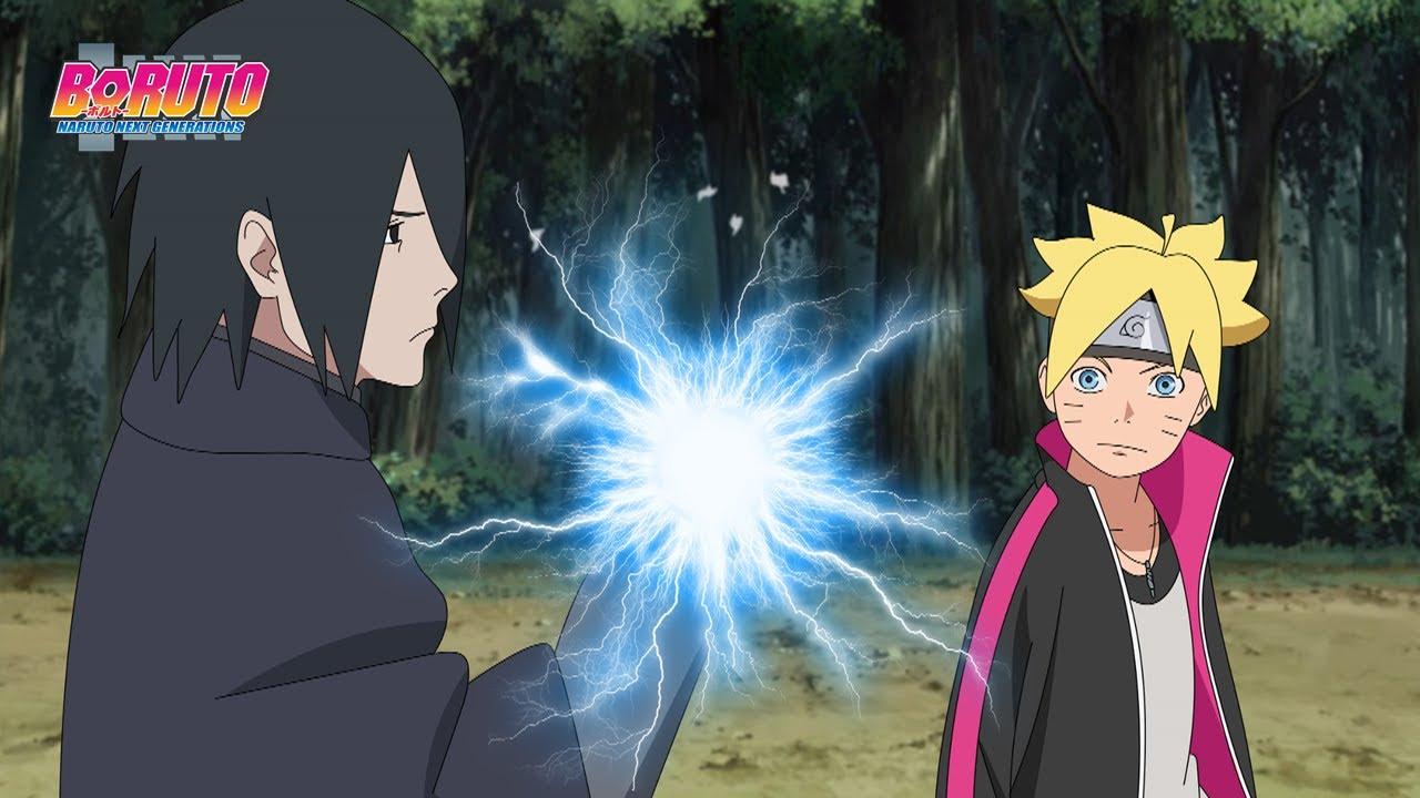 Sasuke ensina Boruto usar o Lendário Chidori - Boruto Next Generations
