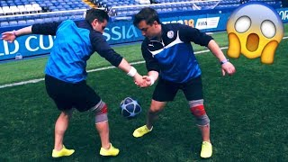 TWINS Performs INCREDIBLE World Cup 2018 Football Skills ★ (Soccer/Tricks/Dribbling/Freestyle)