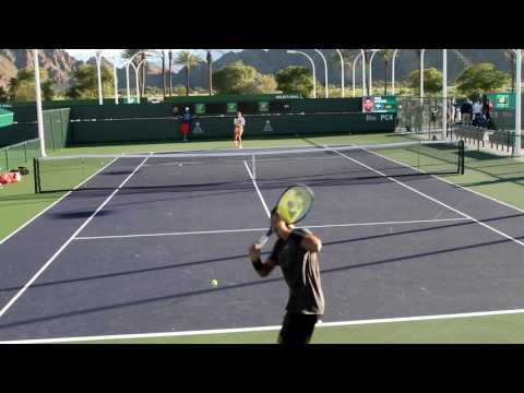 Nick Kyrgios Practice 2017 BNP Paribas Open Indian Wells