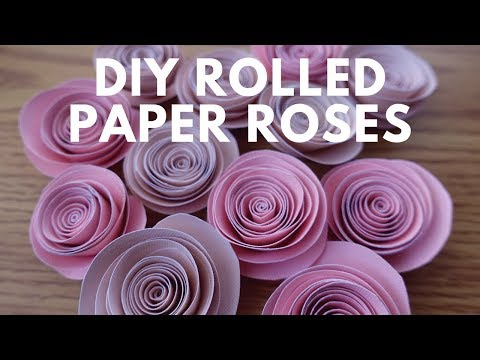 DIY Spiral Rolled Paper Roses Tutorial | Paper Flowers