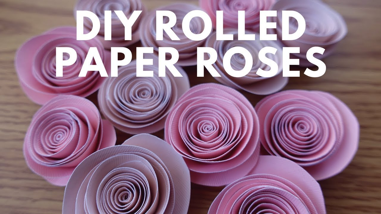 Diy spiral rolled paper roses tutorial paper flowers youtube diy spiral rolled paper roses tutorial paper flowers mightylinksfo