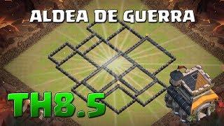 Diseño de Guerra para TH8.5 Anti 3 Estrellas - DISEÑOS DE ALDEAS - CLASH OF CLANS