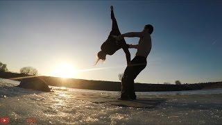 СУМАСШЕДШАЯ акробатика посреди реки / EPIC acrobatics