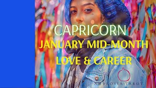 Capricorn New Starts (no fear!)  Mid-month Love+Career Tarot Spreads Jan 15.31.2021