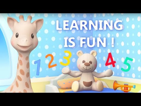 Sophie la girafe - Learning is fun (Part 2) | Vocabulary lessons for kids and toddlers