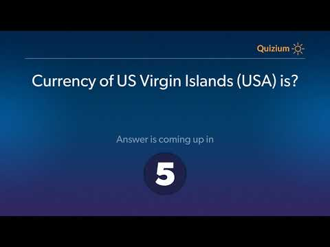 Currency of US Virgin Islands USA is?   Countries and Currencies Quiz