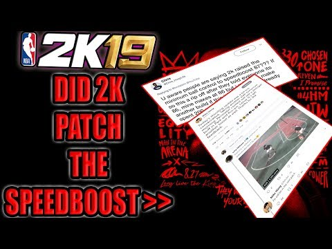 NEW PATCH INBOUND & DID 2K PATCH THE SPEEDBOOST FROM 86 TO 87??? - NBA 2K19 NEWS