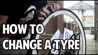 How To Change a Tyre and Inner Tube on a Fixed Gear Bike (700c)