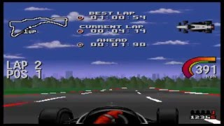 Newman-Haas Indy Car Featuring Nigel Mansell SNES - Arcade Full Season - Round 1 - Surfers Paradise