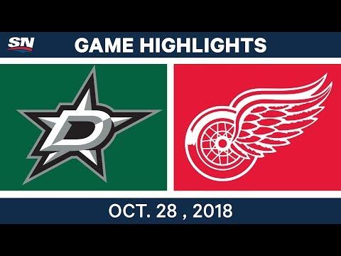 NHL Highlights | Stars vs. Red Wings - Oct. 28, 2018