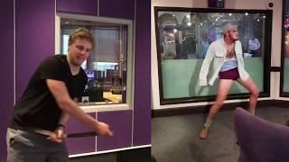 Nico Swartz dance off with Pieter van der Merwe