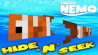 Minecraft - MORPH MOD HIDE AND SEEK - Finding Nemo ( Modded Minigame)