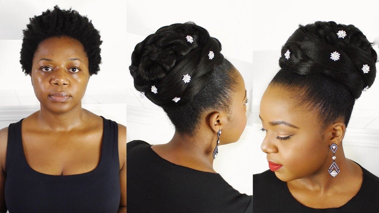 Bridal Updo For Black Women Youtube