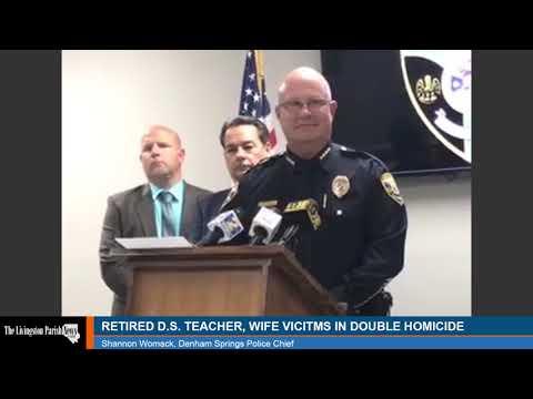Denham Springs Police Double Homicide Press Conference