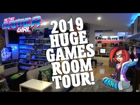 Huge 2019 Game Room Tour 2000+ Games 100+ Systems | Retro Gamer Girl