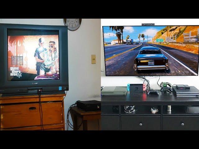 GTA 5 2013 PS3 con TV Vieja VS GTA 5 2018 PS4 PRO con TV Nueva