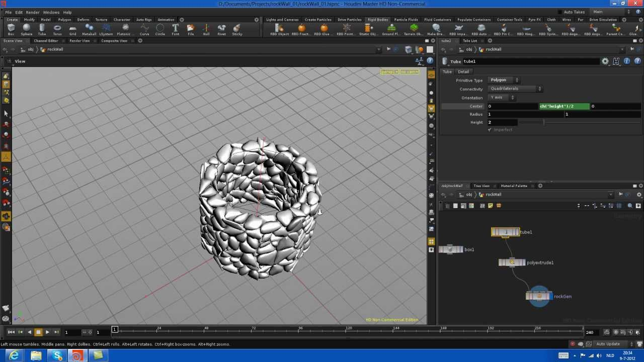 Houdini Procedural Rock Generation From Polygonal Object