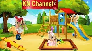 KN Channel BÚP BÊ ĐI SIÊU THỊ CÓ TI VI TỦ LẠNH Đồ chơi trẻ em CỦA BÉ NA