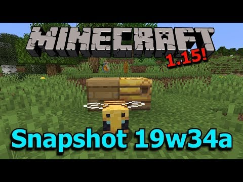 Minecraft 1.15 Snapshot 19w43a- Bees! Bee Hives! Dispenser Changes! thumbnail