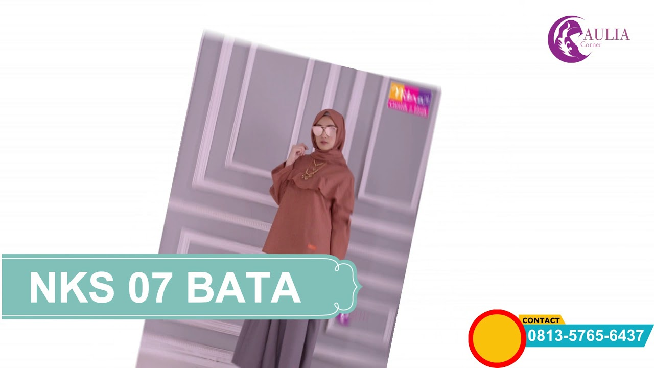 Elegan Nibras Nks 07 Blouse Warna Merah Bata Kulot Abu Tua Wa 0813
