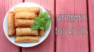 ☀Cooking With Mom: Vietnamese Egg Rolls {Cha Gio}