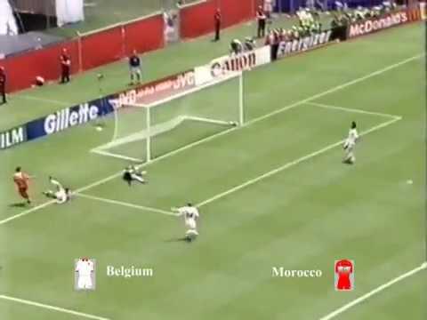 Belgium vs Morocco Group F World cup 1994