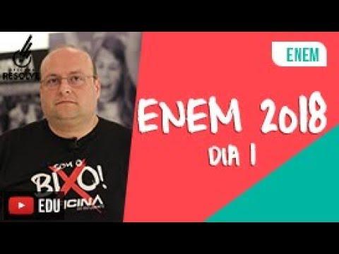 Comentário ENEM 2018 - Primeiro Dia
