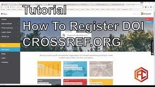 Tutorial How To Register DOI Crossref.org 2017 for OJS
