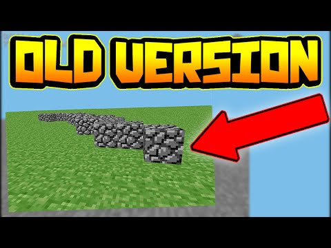 OLDEST VERSIONS OF MINECRAFT!!