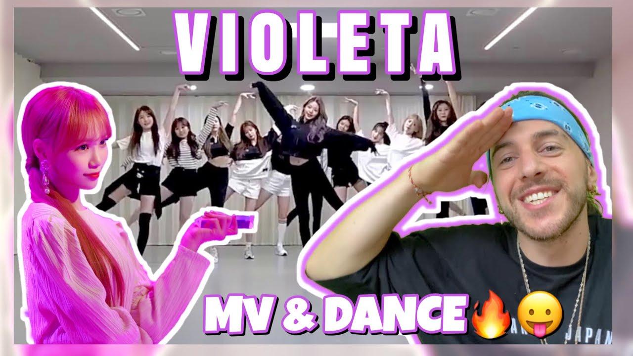 FIRST TIME REACTING TO: IZ*ONE 'VIOLETA' MV & DANCE PRACTICE