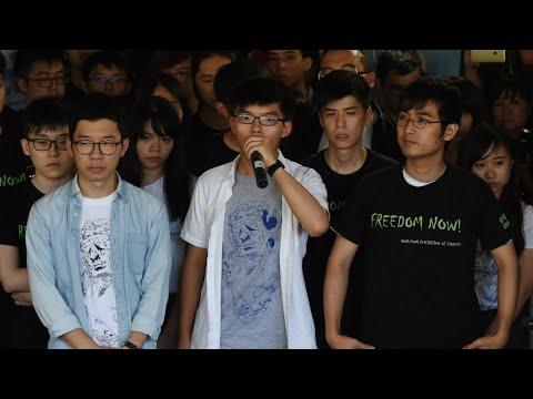 """Hong Kong : peines de prison pour les trois leaders de la """"révolte des parapluies"""""""