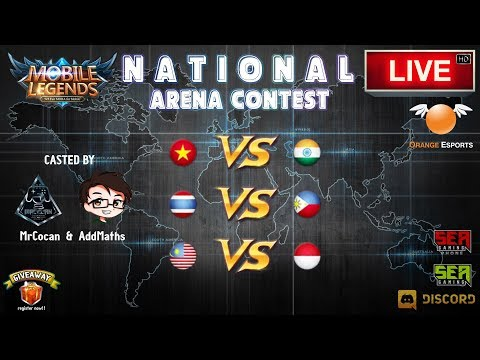 [Mobile Legends] National Arena Contest (Casted By MrCocan & AddMaths) 🔘 LIVE | Malaysia