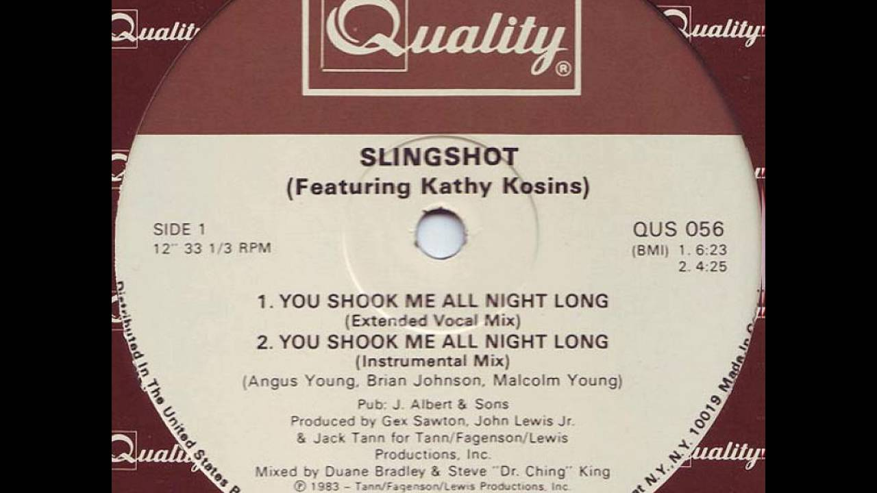 Slingshot - You Shook Me All Night Long (Detroit Electro) (1983).