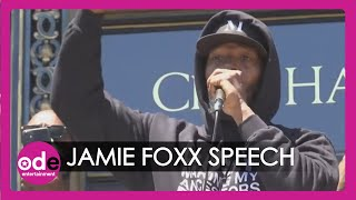 Jamie Foxx Joins Protest In San Francisco