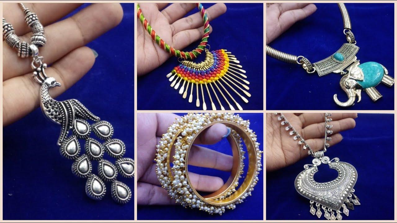 eb63f05242def Oxidised Necklace Chokers and Pendants |Oxidised Bangles |Junk Jewellery