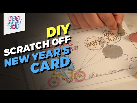 How to make a DIY Scratch Off New Year's Card