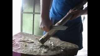 Краш-тест ножа сделанного своими руками из мехпилы Р6М5