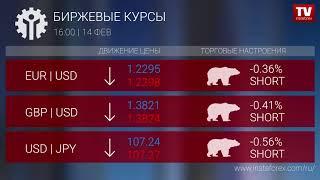 InstaForex tv news: Биржевые курсы 16:00 (14.02.2018)
