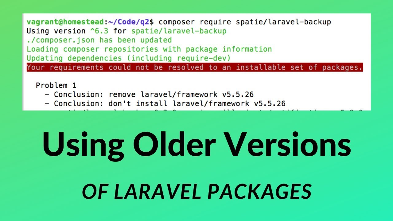 Which (Older) Version of Laravel Package to Use?