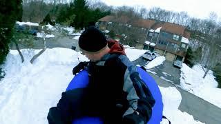 Backyard Snow Luge